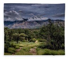 Odyssey Into Clouds Oil Fleece Blanket