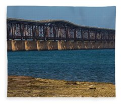 Old Bahia Honda Bridge Fleece Blanket