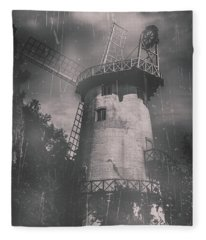 Old Tower Mill Building. Historic Fine Art Photo Fleece Blanket