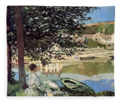On The Bank Of The Seine Fleece Blanket