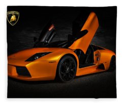 Orange Murcielago Fleece Blanket