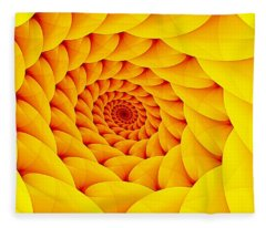 Yellow Pillow Vortex Fleece Blanket