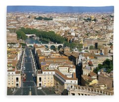 Overview Of The Historic Centre Of Rome Fleece Blanket