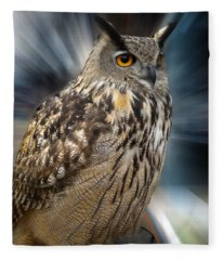 Owl Alba Spain  Fleece Blanket