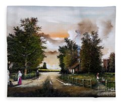 Passing The Time Fleece Blanket