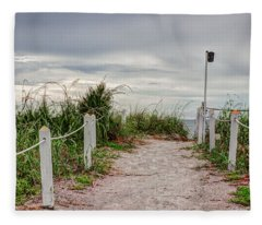 Pathway To The Beach Fleece Blanket