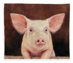 Pig Fleece Blanket