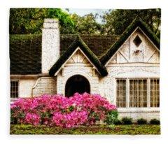 Pink Azaleas - Old Southern Charm By Sharon Cummings Fleece Blanket