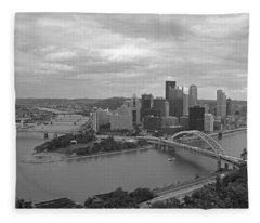 Pittsburgh - View Of The Three Rivers Fleece Blanket
