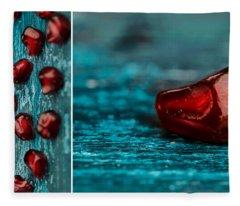 Pomegranate Collage Fleece Blanket