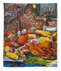Pontchartrain Crabs Fleece Blanket