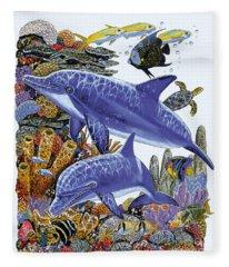 Porpoise Reef Fleece Blanket