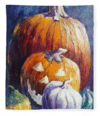 Pumpkin Happy Face Fleece Blanket