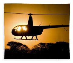 R44 Sunset Fleece Blanket