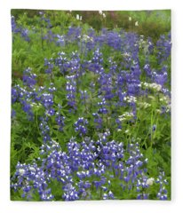 Rainier's Wildflowers Fleece Blanket