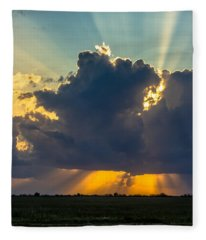 Rays From The Clouds Fleece Blanket