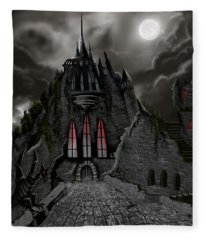Red Death Tower Fleece Blanket
