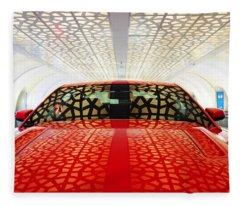 Red Savage Beauty 3. Ford Mustang Fleece Blanket