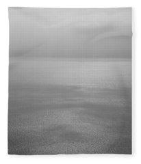 Reflection Of Clouds On Water, Lake Fleece Blanket