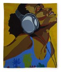 Rhythms In The Sun Fleece Blanket