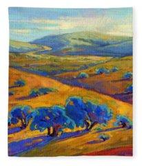 Rolling Hills 1 Fleece Blanket