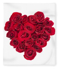 Rose Heart Fleece Blanket