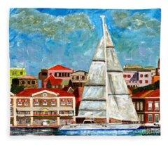 Sailing In Fleece Blanket