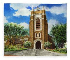 Saint Andrews Episcopal Church Bryan Texas Fleece Blanket