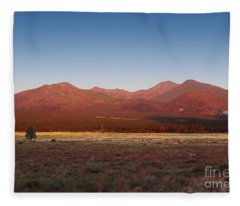 San Francisco Peaks Sunrise Fleece Blanket