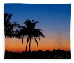Sanibel Island Florida Sunset Fleece Blanket