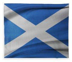 Scottish Flag Fleece Blanket