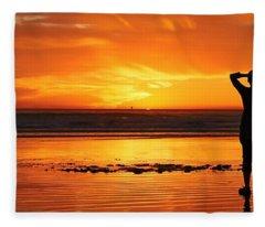 Seaside Reflections  Fleece Blanket