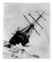 Shackletons Endurance Trapped In Pack Fleece Blanket