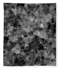 Shades Of Gray Fleece Blanket