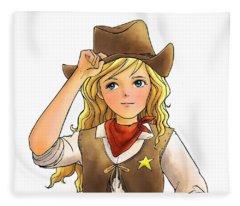 Sheriff Tammy Fleece Blanket