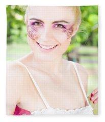 Smiling Ballerina Fleece Blanket