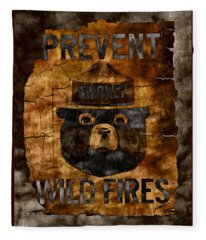 Smokey The Bear Only You Can Prevent Wild Fires Fleece Blanket
