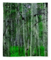 Spectacular Aspens Fleece Blanket