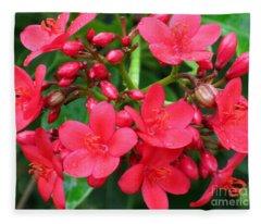 Lovely Spring Flowers Fleece Blanket