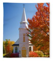 St Matthew's In Autumn Splendor Fleece Blanket