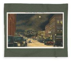 State Street Bristol Va Tn 1920's - 30's Fleece Blanket
