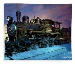 Steam Engine Nevada Northern Fleece Blanket
