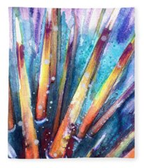 Spine Of Urchin Fleece Blanket
