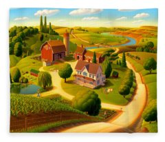 Rural Scene Fleece Blankets
