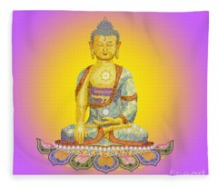 Sun Buddha Fleece Blanket