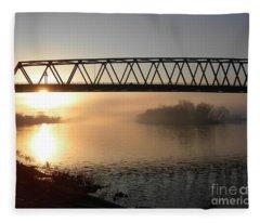 Sunrise Over The Ohio Fleece Blanket