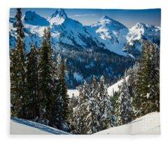 Tatoosh Winter Wonderland Fleece Blanket
