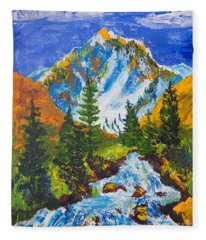 Taylor Canyon Run-off Fleece Blanket