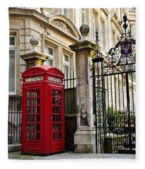 Telephone Box In London Fleece Blanket