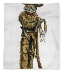 Texas Cowboy, 1887 Fleece Blanket